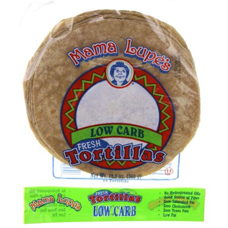 Low Carb Tortillas, Mama Lupe, 3g Net Carbs, Keto-Friendly, 12.5 oz., 10 Tortillas, (Low Fat Flour Tortillas)