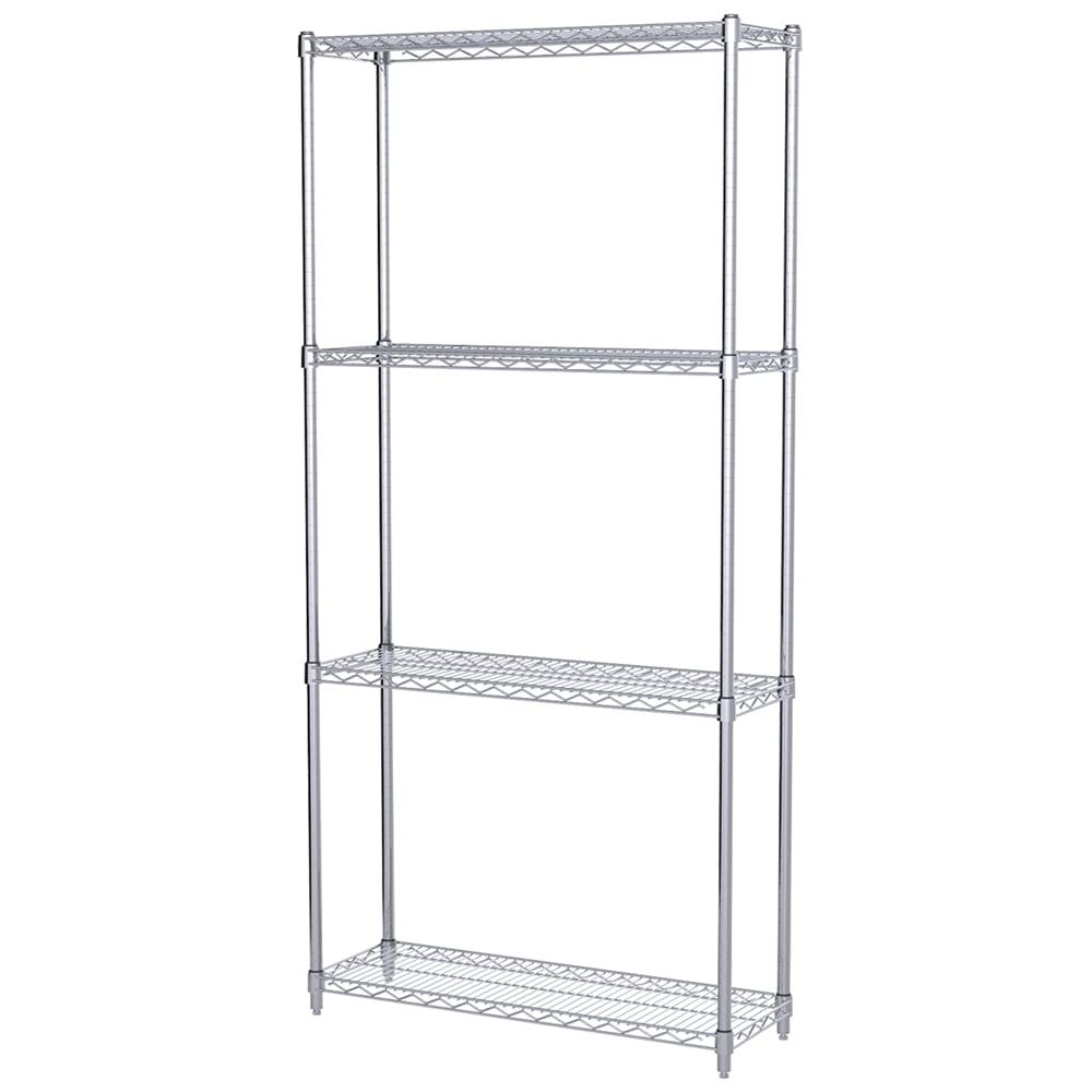 Akro Mils 12x36x74 4 Shelf Wire Shelving Unit Walmart