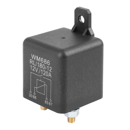 2 Pin DC 12V 120A Universal Relay Switch Power Starter Black for Car Automotive 2 Pin DC 12V 120A Universal Relay Switch Power Starter Black for Car AutomotiveDescription:This relay can be powered for long time, which is suitable for the automotive electrical appliances working for long time.Control the magnitude of the current and its on-off.100A high switching capability.100% Brand new and high quality.Light weight, not easy to damage or break.Easy to install, directly replace the old or damaged one.Specification:Pin Number: 2Operating Voltage: DC 12VAmps: 120AColor: BlackSize: 44x44x63mm / 1.73 x1.73 x2.48 (L*W*H)Material: Plastic, MetalNote:Please allow 1-2mm error due to manual measurement.Package Included:1 x Car Relay