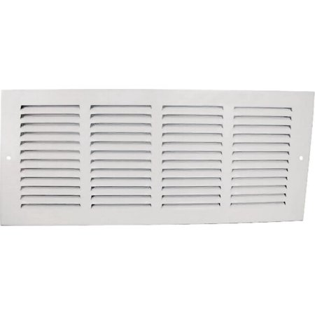 Worldwide Sourcing Return Air Grille, 18 In H X 18 In W, Stamped Steel, White