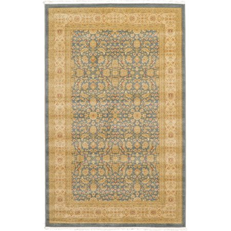 Unique Loom 5 0 X 8 0 Blue Aurinia Heritage Area Rug