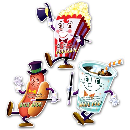 Movie Cutouts (Set Of 3 Drive-In Movie Night Cutouts 16
