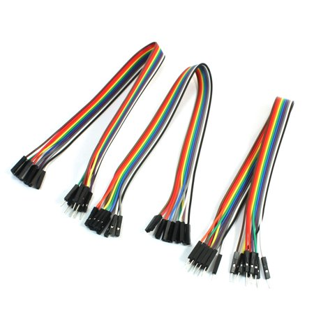 Swell 3Pcs Breadboard 10P 10P Male Female 2 54Mm Flexible Jumper Cable Wiring Digital Resources Ntnesshebarightsorg