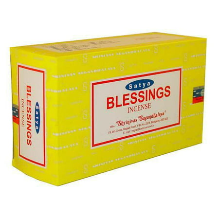 15g Incense - 12pk Satya 15g Blessings Incense--apprx 12 sticks per pack
