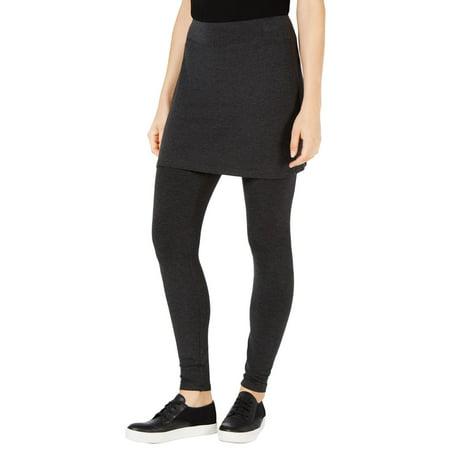 Eileen Fisher Womens Skirted Layered Leggings Gray XXS