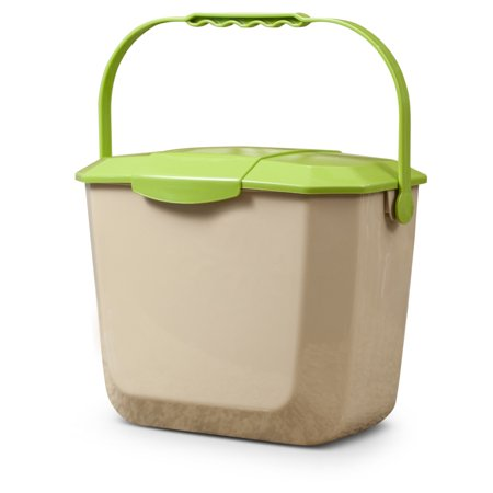 2 Gallon Kitchen Composting Container with Lid, Beige (Compost Bins Kitchen)