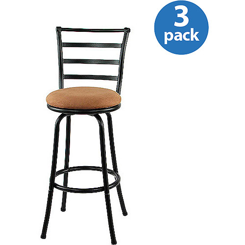 Mainstays Metal Swivel Bar Stool 29'', Set of 3, Black