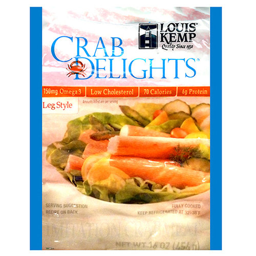 Louis Kemp Crab Delights Chesapeake Bay Crab Delights Leg Style Imitation Crab Meat, 16 oz by Trident Seafoods