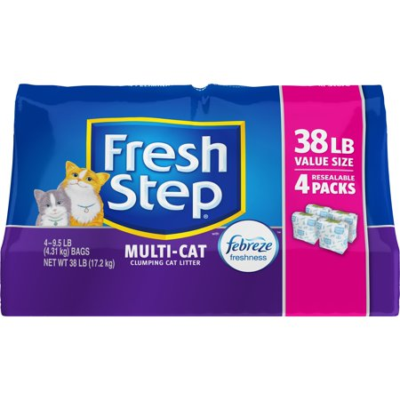 Fresh Step Multi Cat With Febreze Freshness  Clumping Cat Litter  Scented  38 Lbs