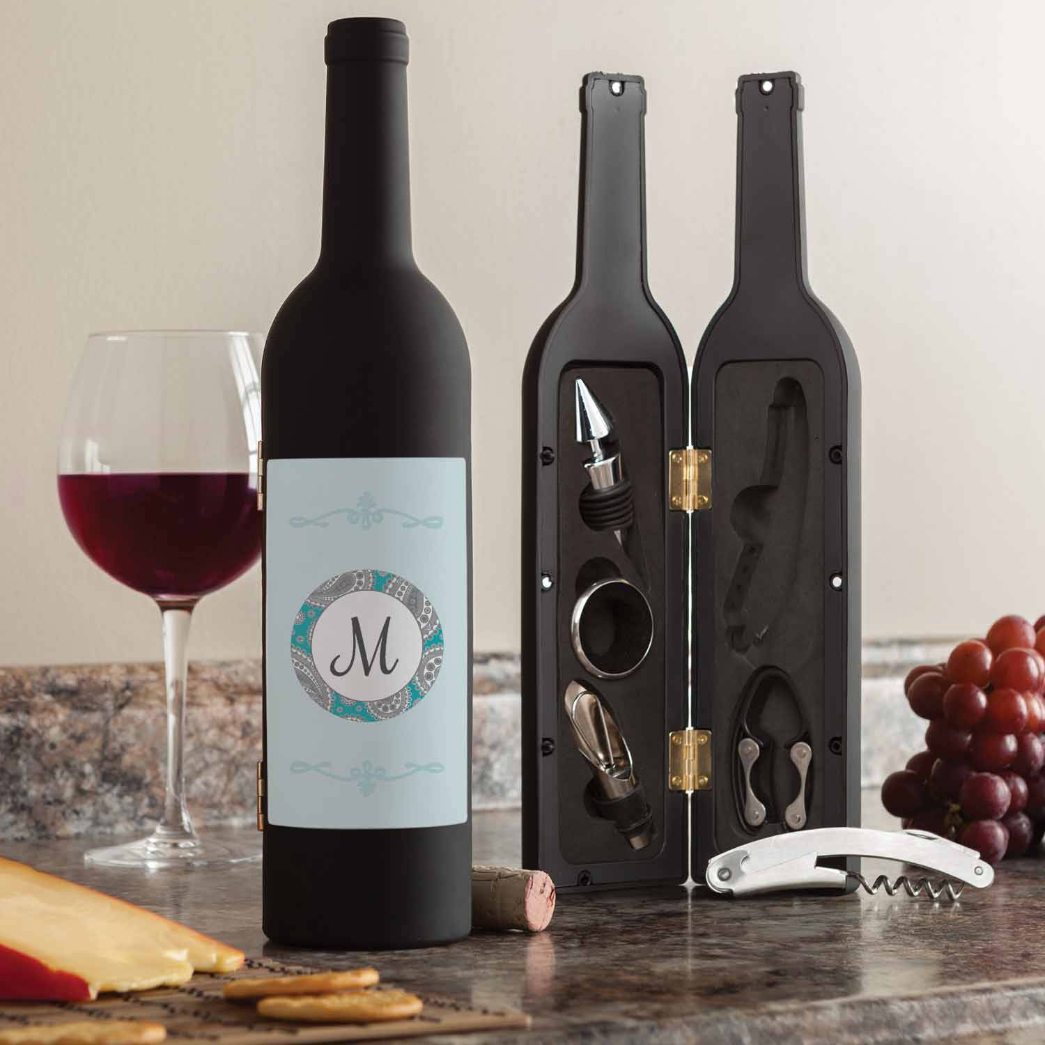 Personalized Our Initial Wine Kit