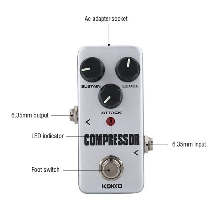 Ejoyous KOKKO FCP2 Compressor Sustainer Mini Effect Pedal for Electric Guitar Accessories, Guitar Accessories,Guitar