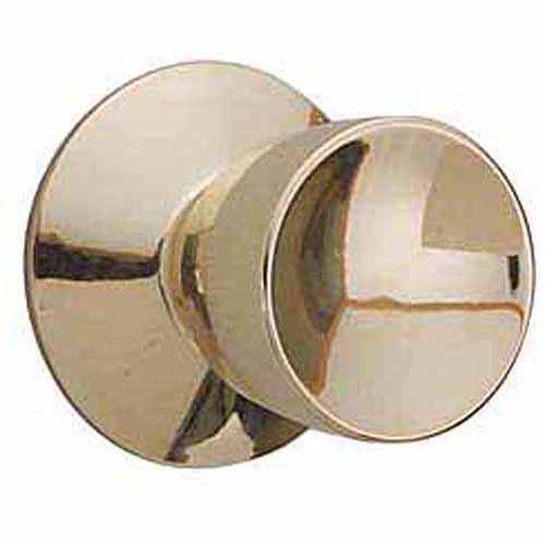 Schlage F10VBEL605 Bright Brass Bell Knob Passage Set