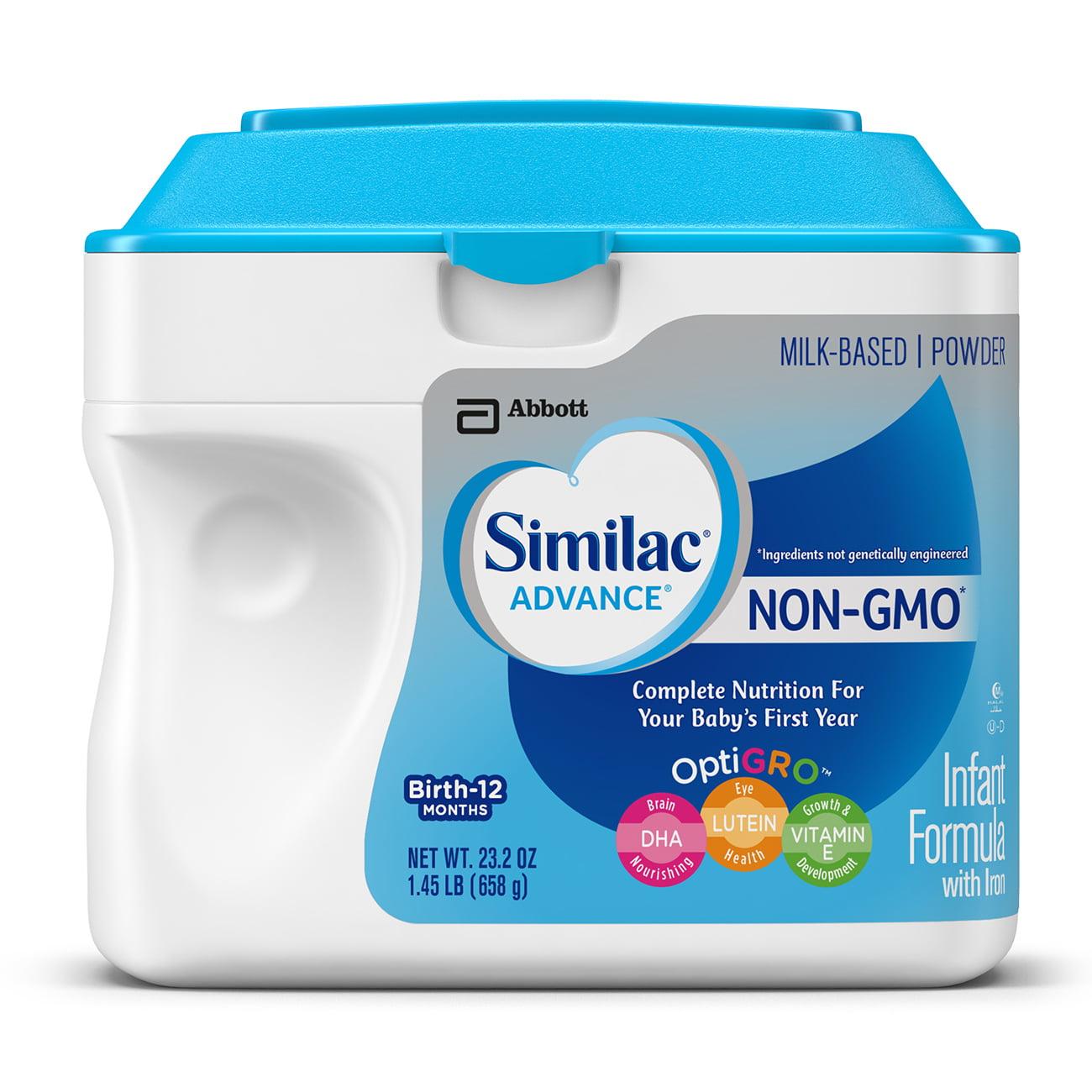 Similac Advance NON-GMO Infant Formula with Iron, Powder, 1.45 lb
