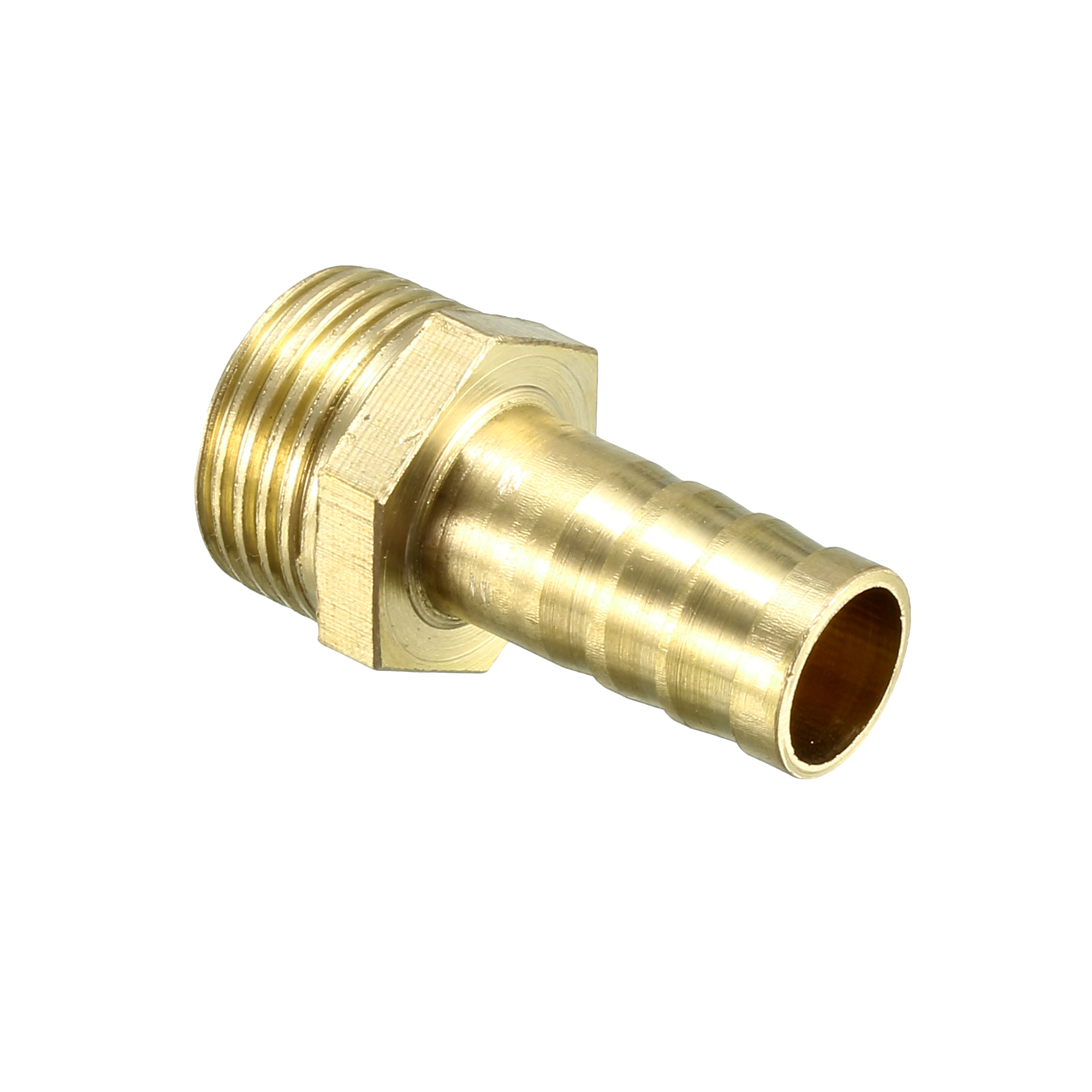 Brass Barb Hose Fitting Connector Adapter 10mm Barbed x 3/8 PT Male Pipe - image 2 of 4