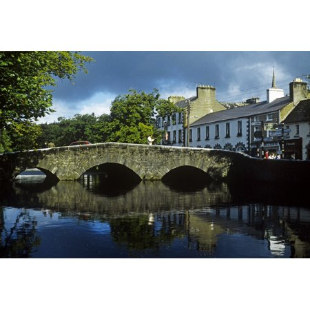 Bridge Over A River In Front Of Buildings The Mall Westport County Mayo Republic Of Ireland Canvas Art - The Irish Image Collection  Design Pics (36 x (Quick Bridge Mall)