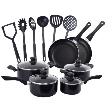 Costway 16 Piece Non Stick Cooking Kitchen Cookware Set