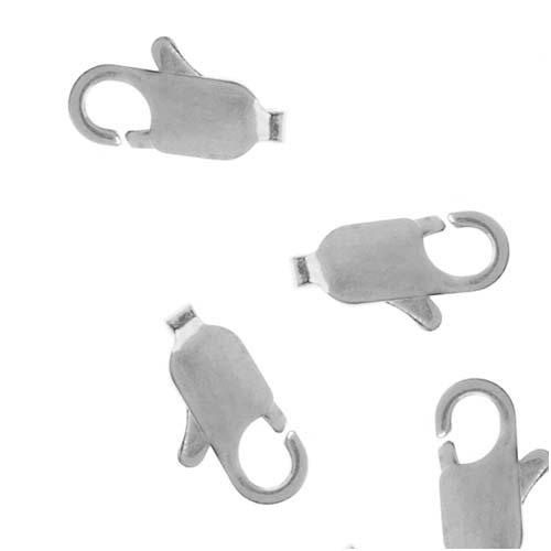 Silver Plated Large Sleek Lobster Clasps 14mm (10)