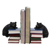 """Ebros Gift Rustic Wildlife Bear Cubs Climbing Stack of Books Bookends Pair Resin Figurine 6.5"""" High Decorative Bears Statue Set Home and Office Cabin Lodge Mountain Resort Decor Book Organizer Accent"""