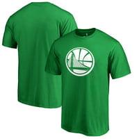 Golden State Warriors Fanatics Branded St. Patrick's Day White Team Logo T-Shirt - Kelly Green