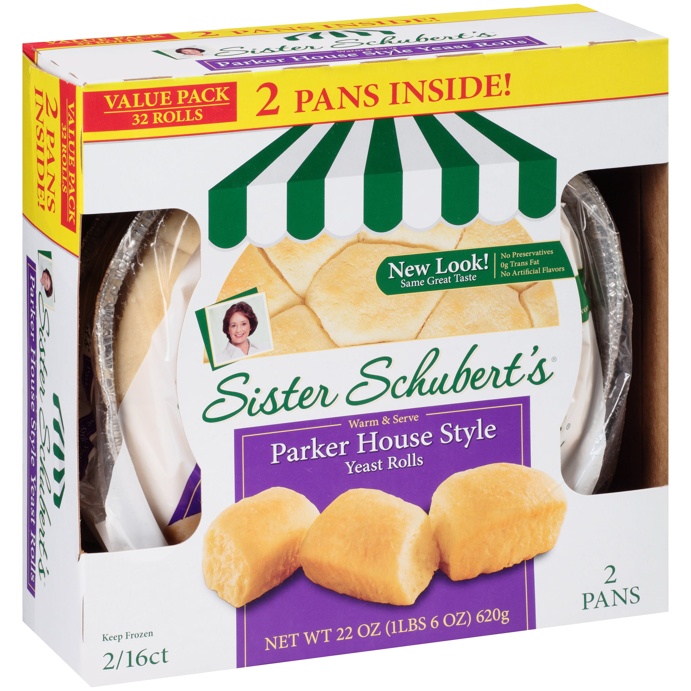 Sister Schubert S Parker House Style Yeast Rolls 32 Count 22 Oz