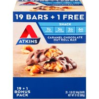 Atkins Keto Friendly 20 ct. Caramel Chocolate Nut Roll Snack Bar