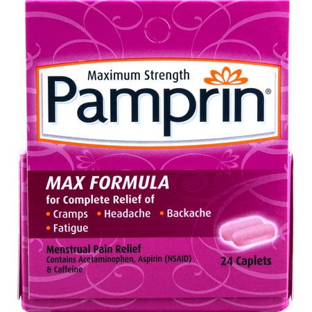 Pamprin Maximum Strength Max Formula Menstrual Pain Relief Caplets 24