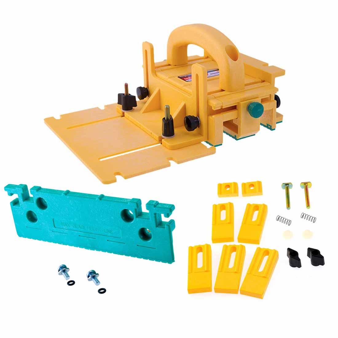 Microjig Grr-Ripper Advanced 3D Pushblock with 1/8-Inch Leg & Gravity Heel Kit