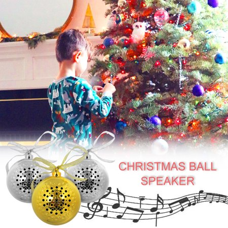 Mini Christmas Ornament Speaker Christmas Ball Sound Audio,iClover Jingle Bell Bluetooth Wireless Speaker Ornament Holiday Tunes for Christmas Tree - Gold - Giant Jingle Bell