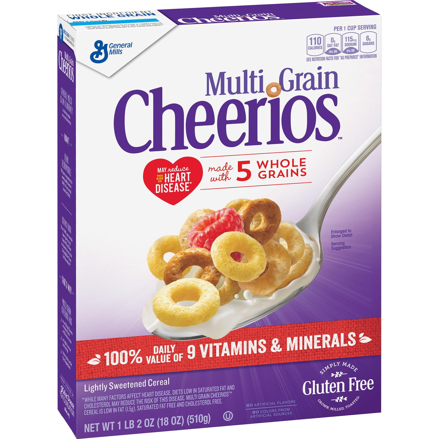 Multi Grain Cheerios Gluten Free Cereal, 18 oz