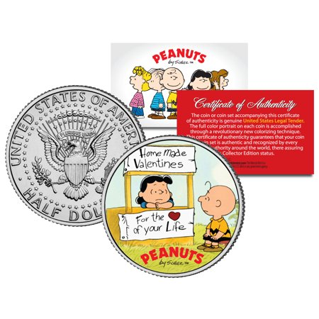 Peanuts VALENTINE'S * Charlie Brown & Lucy * JFK Half Dollar US Coin - - Charlie Brown And Lucy Costumes