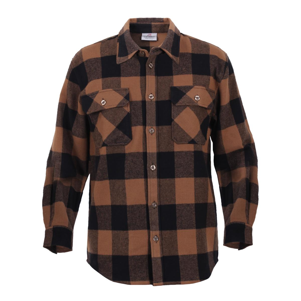 Faded glory men 39 s long sleeve flannel shirt for Men s lightweight flannel shirts