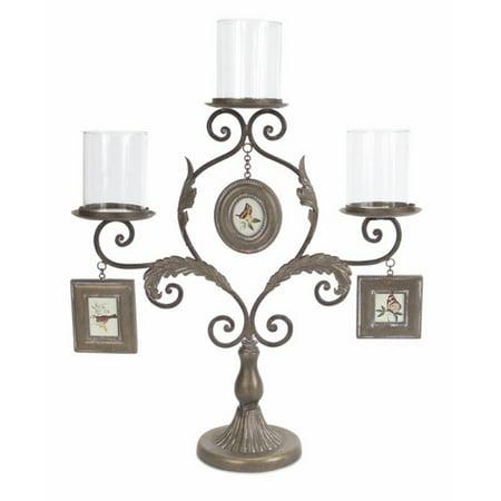 Set of 2 Victorian Candelabra Pillar Candle Holder 20.5