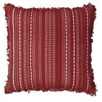 Better Homes & Gardens Reversible Stripe Pillow, 20''x20'', Rust