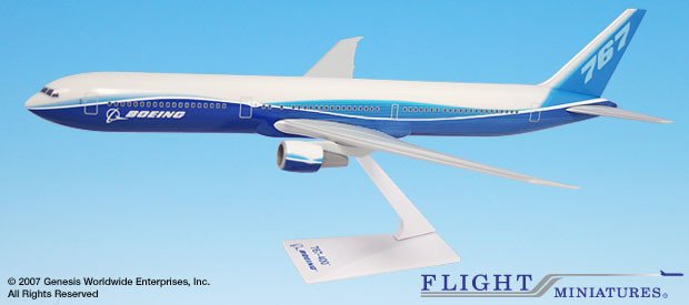 Flight Miniatures Boeing Demo 767-400 1 200 Scale Model with Stand by