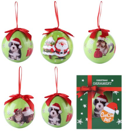 6 x Santa Clause Christmas Decorative Indoor Ornament Hanging Tree Bundle Set (Tree Hanging Seat)
