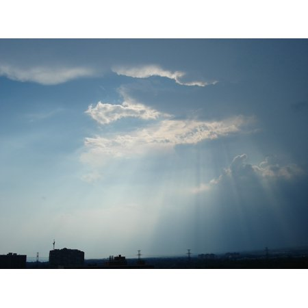 LAMINATED POSTER Glow Light Rays Of Light Backdrop Weather Sky Ray Poster Print 24 x 36 (Sky Backdrop)