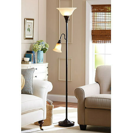 Better Homes & Gardens Floor Lamp Combo, Bronze Bronze 60w Buffet Lamp