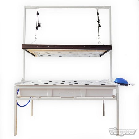2 ft. x 4 ft. Complete Deep Water Culture System with Tray, Light Stand and T5 8 Lamp 4 ft. Fluorescent
