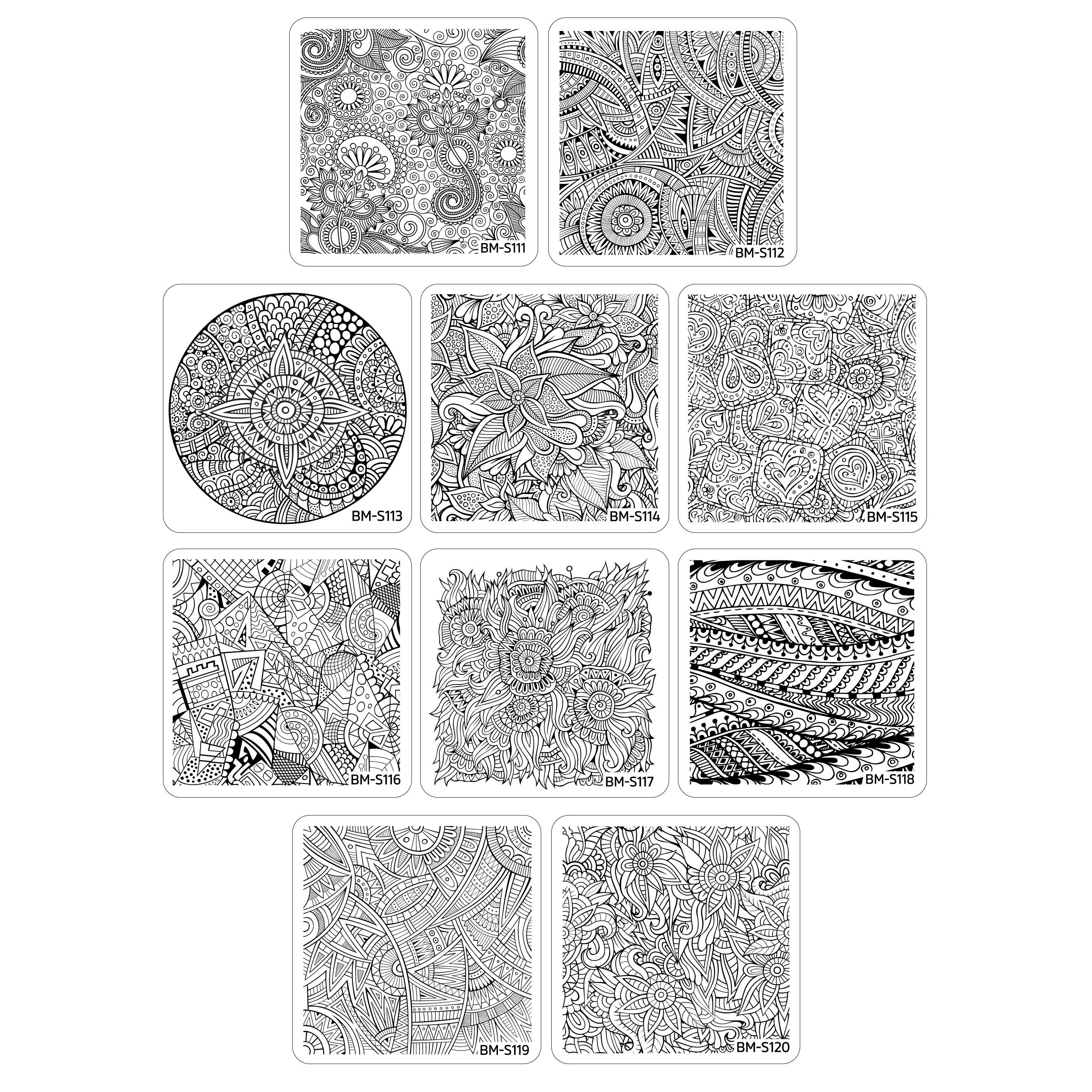 Maniology (formerly bundle monster) 10pc Nail Art Polish Stamping Plates - Paisley Flow Collection