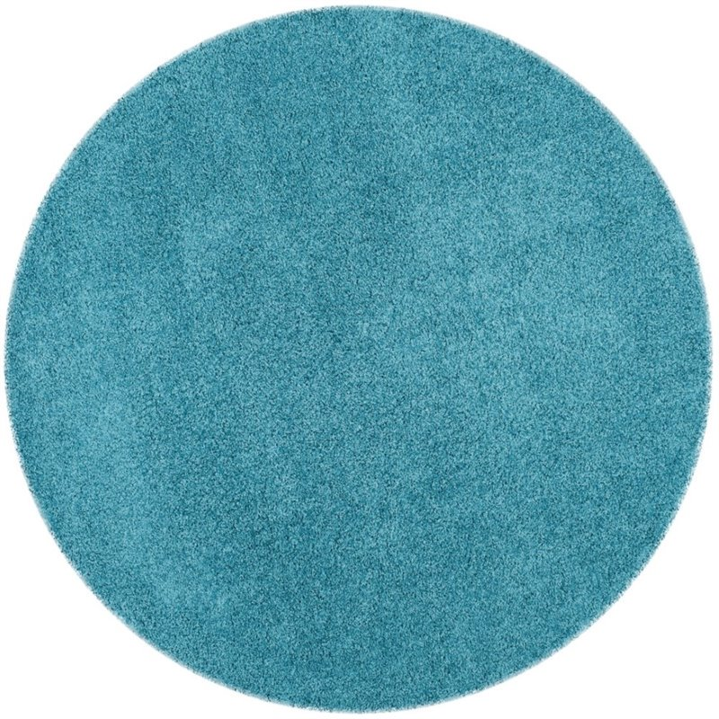 "Safavieh Laguna Shag 6'7"" Square Power Loomed Rug in Turquoise - image 3 of 10"