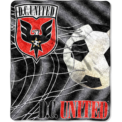 "MLS 50"" x 60"" Sherpa Throw, DC United"