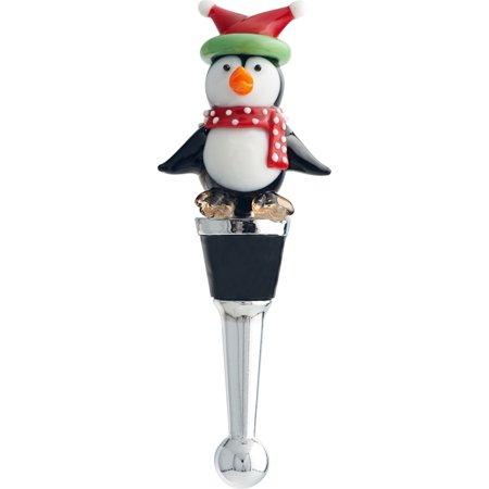 Whimsical Christmas Penguin Winter Holiday Bottle Topper Stopper