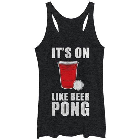 Women's On Like Beer Pong Racerback Tank Top