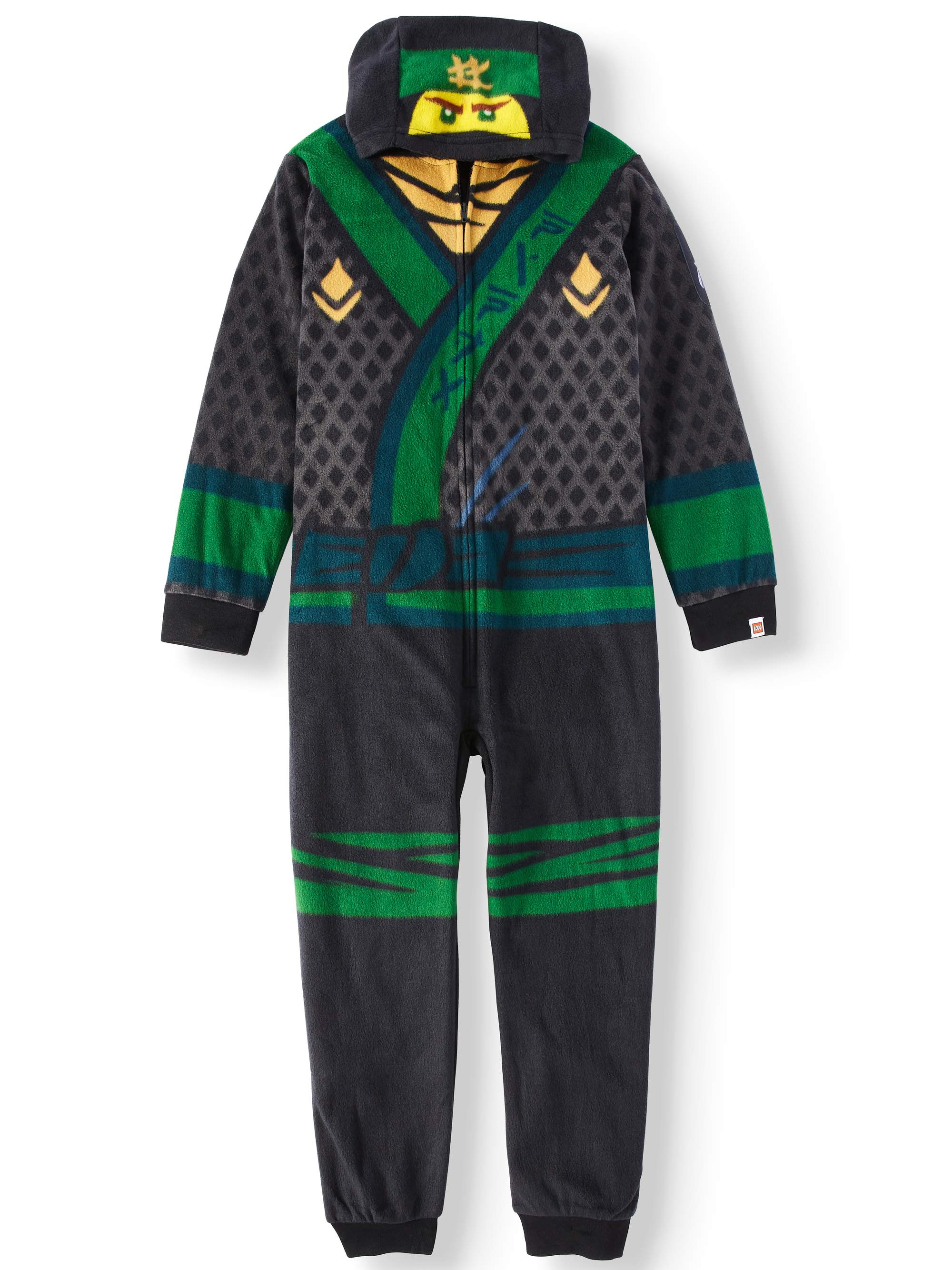 Boy's Hooded Lego Ninjago Union Suit Onesie Pajama Sleep Set (Big Boys & Little Boys)