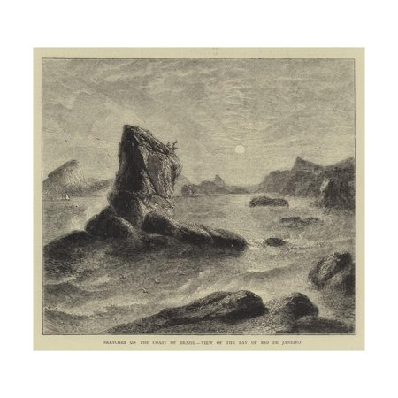 Sketches on the Coast of Brazil, View of the Bay of Rio De Janeiro Print Wall