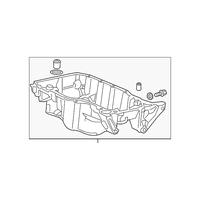 Genuine OE Honda Oil Pan 11200-5A2-A00