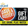 Dave & Buster's $25 Gift Card (email delivery)