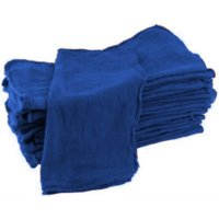"""GHP 500-Pcs Ford Blue 15""""x15"""" 100% Cotton Fabric Industrial Shop Rag/Cleaning Towels"""