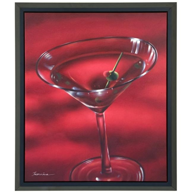 Artmasters Collection KM91651-P2020 Red Martini Framed Oil Painting
