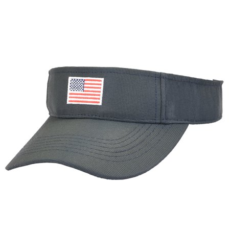 58c0f0d4b46 Unisex American Flag Sun Visor Adjustable Patriotic Sports Tennis Golf Cap  - Walmart.com